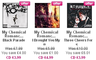 My Chemical Romance HMV Sale