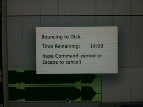 Bouncing to Disk...