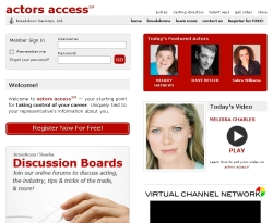ActorsAccess.com Screenshot