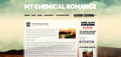 New Look MyChemicalRomance.com