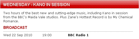 Radio 1's Wednesday Session