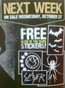 Free Stickers In Kerrang! Magazine