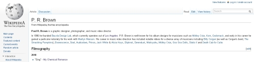 Paul Brown's Wikipedia Page